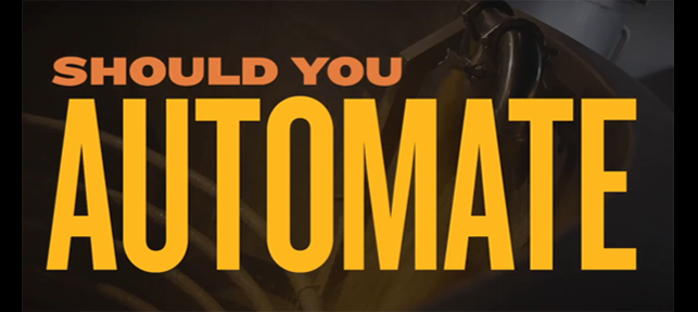 Should you automate? - video by Vendome