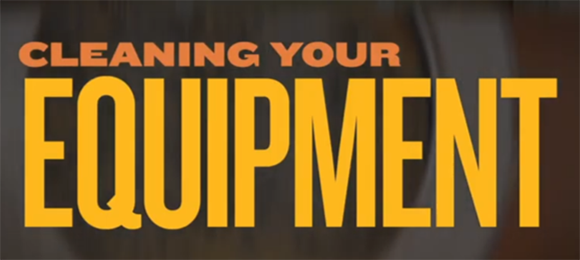 Cleaning your equipment - video by Vendome