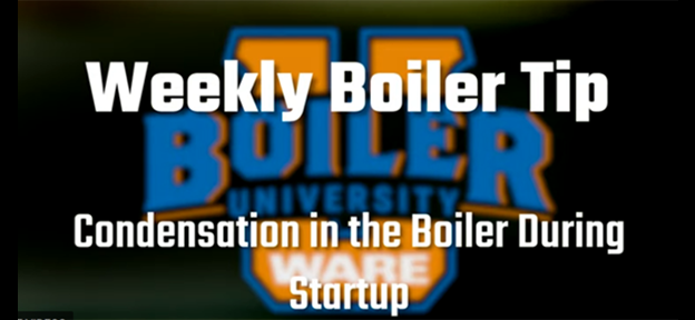 Condensation in the boiler during startup - video by WARE