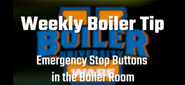 Emergency stop buttons in the boiler room - video from WARE